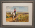 Antiques:Decorative Americana, Charles Lassell: Two Watercolor Works by This Well-Known WesternIllustration Artist. ...