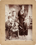 "American Indian Art:Photographs, PAWNEE ""DOCTOR"" OR PIPE PRIEST WITH WIFE and ALONE. c.1895...(Total: 2 Items)"