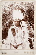 American Indian Art:Photographs, WOODEN LANCE ALONE and WIFE AND DAUGHTER. c. 1887... (Total: 2Items)