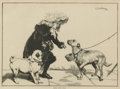 Decorative Arts, British:Other , A GROUP OF SIX FRAMED IMAGES OF PUG DOGS . mostly English, late19th and early 20th Centuries. 17 x 15 inches largest (43.2 ...(Total: 6 Items)