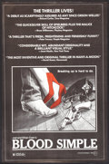 """Movie Posters:Thriller, Blood Simple (Circle Films, 1985). Poster (24"""" X 37""""). Thriller....."""