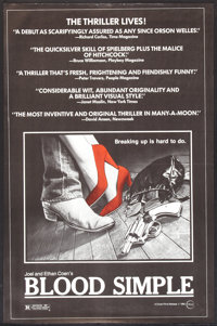 "Blood Simple (Circle Films, 1985). Poster (24"" X 37""). Thriller"