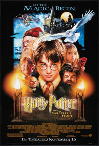 """Harry Potter and the Sorcerer's Stone (Warner Brothers, 2001). One Sheet (27"""" X 40"""") DS Advance. Fantasy"""