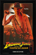 "Movie Posters:Adventure, Indiana Jones and the Temple of Doom (Paramount, 1984). One Sheet(27"" X 41"") SS Advance. Adventure.. ..."