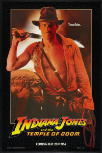 "Indiana Jones and the Temple of Doom (Paramount, 1984). One Sheet (27"" X 41"") SS Advance. Adventure"