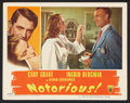 "Movie Posters:Hitchcock, Notorious (RKO, 1946). Lobby Card (11"" X 14""). Hitchcock.. ..."