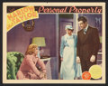 """Movie Posters:Romance, Personal Property (MGM, 1937). Lobby Card (11"""" X 14""""). Romance....."""
