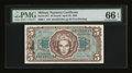 Military Payment Certificates:Series 651, Series 651 $5 PMG Gem Uncirculated 66 EPQ....