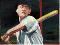 Baseball Collectibles:Others, Ted Williams Original Painting....