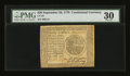 Colonial Notes:Continental Congress Issues, Continental Currency September 26, 1778 $20 PMG Very Fine 30....