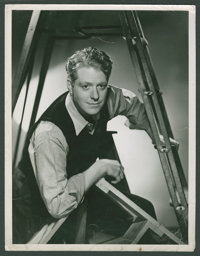 """Nelson Eddy in """"Rosalie"""" by Clarence Sinclair Bull (MGM, 1937). Portrait (10"""" X 13""""). Musical"""