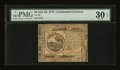 Colonial Notes:Continental Congress Issues, Continental Currency July 22, 1776 $6 PMG Very Fine 30 EPQ....
