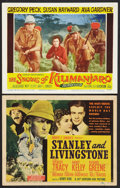 "Movie Posters:Adventure, Stanley and Livingstone Lot (20th Century Fox, 1939). Title LobbyCard and Lobby Card (11"" X 14""). Adventure.. ... (Total: 2 Items)"