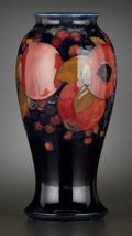 Ceramics & Porcelain, British:Modern  (1900 1949)  , AN ENGLISH ART POTTERY VASE . Moorcroft, Burslem (Stoke-on-Trent),Staffordshire, England, circa 1930. Marks: MOORCROFT, M...