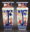Paintings, A PAIR OF JAPANESE IMARI PORCELAIN SQUARE VASES . Japan, circa 1865. Unmarked. 13-5/8 inches high (34.6 cm). ... (Total: 2 Items)