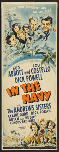 "Movie Posters:Comedy, In the Navy (Universal, 1941). Insert (14"" X 36""). Comedy.. ..."