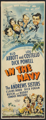 "In the Navy (Universal, 1941). Insert (14"" X 36""). Comedy"