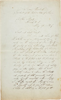 [Grover Cleveland] Secretarially Scripted Autograph Letter to Humbert I, King of Italy