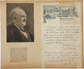 "Autographs:Celebrities, P. T. Barnum Autograph Letter Twice Signed (""P. T. Barnum""and ""P. T. B.""). One page, 6"" x 9.5"", New York, April 25,..."