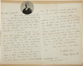 "Autographs:Artists, Frederic Remington Autograph Letters (2) Signed, one dated ""Dayafter Xmas"" (neither contain the year). Both are jocular...(Total: 3 Items)"