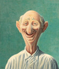 Fine Art - Painting, American:Contemporary   (1950 to present)  , ROGER NORMAN MEDEARIS (American, 1920-2001). The Good Natured Man, 1961. Tempera on board. 26 x 22 inches (66.0 x 55.9 c...