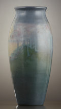 Ceramics & Porcelain, American:Modern  (1900 1949)  , AN AMERICAN ART POTTERY VASE . Rookwood Pottery, Cincinnati, Ohio,1915. Decorated by Sara Elizabeth (Sallie) Coyne (1876-1...