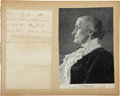 "Autographs:Celebrities, Susan B. Anthony Autograph Letter Signed. One and one-half pages,4.5"" x 8"", Washington, April 18, 1891, inviting an unnamed..."