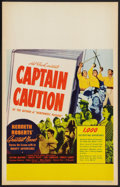 "Movie Posters:Adventure, Captain Caution (United Artists, 1940). Window Card (14"" X 22"").Adventure.. ..."