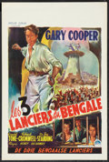 "Movie Posters:Adventure, The Lives of a Bengal Lancer (Paramount, R-1940s). Belgian (14.5"" X21.5""). Adventure.. ..."