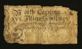Colonial Notes:North Carolina, North Carolina March 9, 1754 15s Very Good-Fine....