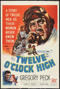 "Twelve O'Clock High (20th Century Fox, 1949). One Sheet (27"" X 41""). War"