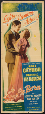 "A Star Is Born (United Artists, 1937). Insert (14"" X 36""). Drama"