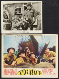 "Wake Island Lot (Paramount, 1942). Lobby Card (11"" X 14"") and Photo (8"" X 10""). War. ... (Total: 2 I..."
