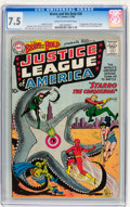 Silver Age (1956-1969):Superhero, The Brave and the Bold #28 Justice League of America (DC, 1960) CGC VF- 7.5 Cream to off-white pages....