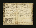 Colonial Notes:North Carolina, North Carolina April 2, 1776 $8 Leopard Very Fine-ExtremelyFine....
