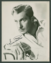 "Vincent Price (Early 1950s). Autographed Photo (8"" X 10""). Horror"