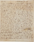 "Autographs:Statesmen, [William Vernon] Samuel Sanford Autograph Letter Signed. Two andone-quarter pages, 6.5"" x 8"", Rehoboth [Massachusetts], Oct..."