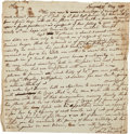 "Autographs:Statesmen, William Vernon Sr. Autograph Letter Unsigned [Retained Copy]. Oneand one-quarter pages, 8"" x 8.25"", Newport, May 21, 1771, ..."