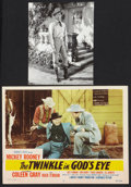 """Movie Posters:Romance, Gary Cooper in """"The Cowboy and the Lady"""" Lot (United Artists,1938). Photo (7.25"""" X 9.25"""") and Lobby Card (11"""" X 14""""). Roman...(Total: 2 Items)"""