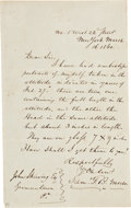 "Autographs:Inventors, Samuel F.B. Morse Autograph Letter Signed. One page, 4.5"" x 7.5"",New York, March 16, 1860, to John Skirving of Germantown, ..."