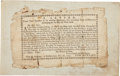 "Miscellaneous:Broadside, Revolutionary War Printed Broadside: ""Tom Bowline . . . ALetter"". One page, 6.5"" x 4"", Port of New ..."