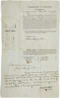"Autographs:Statesmen, Samuel Adams Massachusetts Election Document Signed as thegovernor. One page, 9.25"" x 15.25"", Boston, February 23, 1795,pa..."