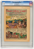 Golden Age (1938-1955):Non-Fiction, Comic Cavalcade Giveaway #nn The Twain Shall Meet (DC, c. 1944-45)CGC FN/VF 7.0 Cream to off-white pages....