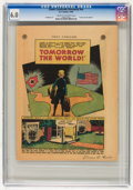 Golden Age (1938-1955):Non-Fiction, Comic Cavalcade Giveaway #nn Tomorrow The World (DC, 1945) CGC FN6.0 Cream to off-white pages....