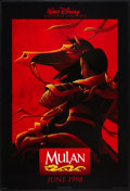 "Movie Posters:Animated, Mulan Lot (Buena Vista, 1998). One Sheets (2) (27"" X 40"") DSAdvances. Animated.. ... (Total: 2 Items)"