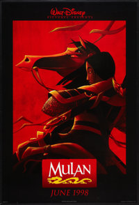 "Mulan Lot (Buena Vista, 1998). One Sheets (2) (27"" X 40"") DS Advances. Animated. ... (Total: 2 Items)"