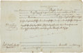 "Autographs:Statesmen, William Ellery Document Signed as customs collector. Onepartially-printed page, 13.25"" x 8.5"", ""at the Custom-House ofNe..."