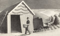 Fine Art - Work on Paper:Print, GRANT WOOD (American, 1891-1942). Seed Time and Harvest,1937. Lithograph on paper. 7-1/2 x 12 inches (19.1 x 30.5 cm). ...