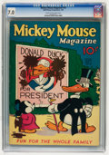 Platinum Age (1897-1937):Miscellaneous, Mickey Mouse Magazine #10 (K. K. Publications/Western PublishingCo., 1936) CGC FN/VF 7.0 Cream to off-white pages....