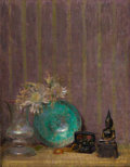 Fine Art - Painting, American:Modern  (1900 1949)  , HOVSEP PUSHMAN (American, 1877-1966). Silence. Oil oncanvas. 24-1/2 x 19-1/4 inches (62.2 x 48.9 cm). Signed lowerrigh...